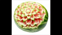 029. Free fruit carving course flower in watermelon _ Darmowy kurs carvingu kwiat w arbuzie