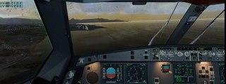 X-Plane 10 -  JARDesign Airbus A330 crosswind landing 32 knots  Crosswind Landing