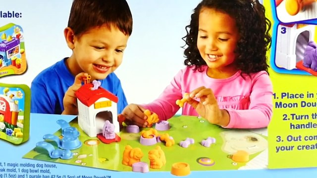 Moon Dough Puppies Play-Doh Peppa Pig Puppy Shopping with George Pig Cachorro de Plastilina
