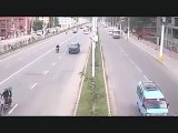 Most shocking Nepal Earthquake CCTV footage between a  road in nepal 2015