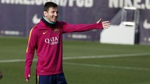 FC Barcelona training session: Final session before Atlético de Madrid