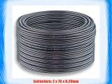 2x25mm? - 30m | DCSK HiFi Cable para altavoces | 9999% OFC cobre puro | oscuro transparente
