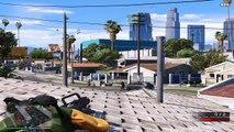 GTA V - New Gang War Mod (Grove Street Families vs. Ballas Shootout)
