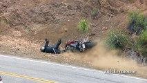Foot Peg Catches then Crash - 2009 Yamaha R1