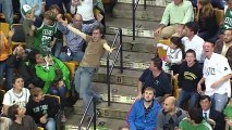Guy breaks out in dance during the game
