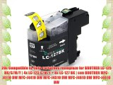 20x Compatible XL tinta cartuchos reemplazo for BROTHER LC-125 BK/C/M/Y | 4x LC-125 C/M/Y