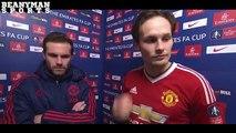 Juan Mata & Daley Blind Post Match Intervie (Derby County 1-3 Manchester United)