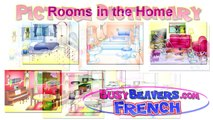 Rooms in the Home (French Lesson 10) CLIP - Bedroom Bathroom, Chambre Salle de Bain, House Words