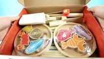 La PÊCHE Velcro Coupe Jouet Jeu Magnétique de fruits de Mer Cuisine w/ Crevettes Poisson Crabe
