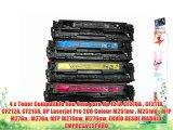 4 x Toner Compatible Non Oem para Hp 131A CF210A  CF211A CF212A CF213A HP Laserjet Pro 200