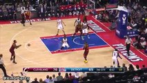 LeBron James & Marcus Morris Scuffle - Cavaliers vs Pistons - January 29, 2016 - NBA 2015-16 Season