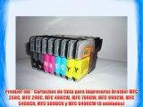 Premier Ink - Cartuchos de tinta para impresoras Brother MFC 250C MFC 290C MFC 490CW MFC 790CW