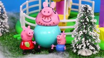 Peppa Pig Play Doh Toy English episode Santa's Grotto ep. cartoon surprise eggs toy Peppa Pig George barbie - Pig George e Peppa Pig Play Doh Suprise Toys Play Game With Peppa Pig Cartoon videos Dora - Barbie - Tom And jerry A Kinder Surprise Eggs