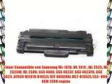 T?ner Compatible con Samsung ML-1910 ML 1915  ML 2525 ML 2525W ML 2580 SCX 4600 SCX 4623F SCX