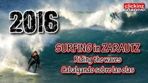 SURF en ZARAUTZ SURFING in ZARAUTZ Riding Big Waves Kayak BodyBoard Paddle Grandes Olas Zarauz Temporal Campeonato mundial de Surf World Championship San Miguel Pro Awesome Wave Storm Mini Epic Enjoy Disfrutando de olas Photo & Video Session y Foto Sesion