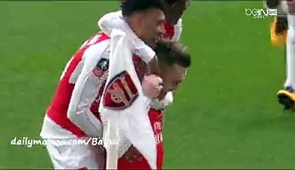Goal Oxlade-Chamberlain  - Arsenal 1-0 Burnley - 30-01-2016 FA Cup
