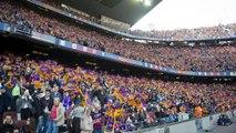 Great atmosphere at Camp Nou before FC Barcelona vs Atlético Madrid