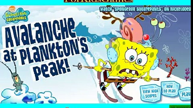 SpongeBob SquarePants avalanche at planktons peak | spongebob game