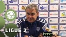 Conférence de presse US Créteil-Lusitanos - Dijon FCO (0-1) : Laurent ROUSSEY (USCL) - Olivier DALL'OGLIO (DFCO) - 2015/2016
