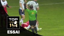 TOP 14 - Agen - Grenoble : 27-33 Essai Chris FARRELL (GRE) - J14 - Saison 2015/2016