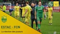 ESTAC-FCN : la réaction des joueurs