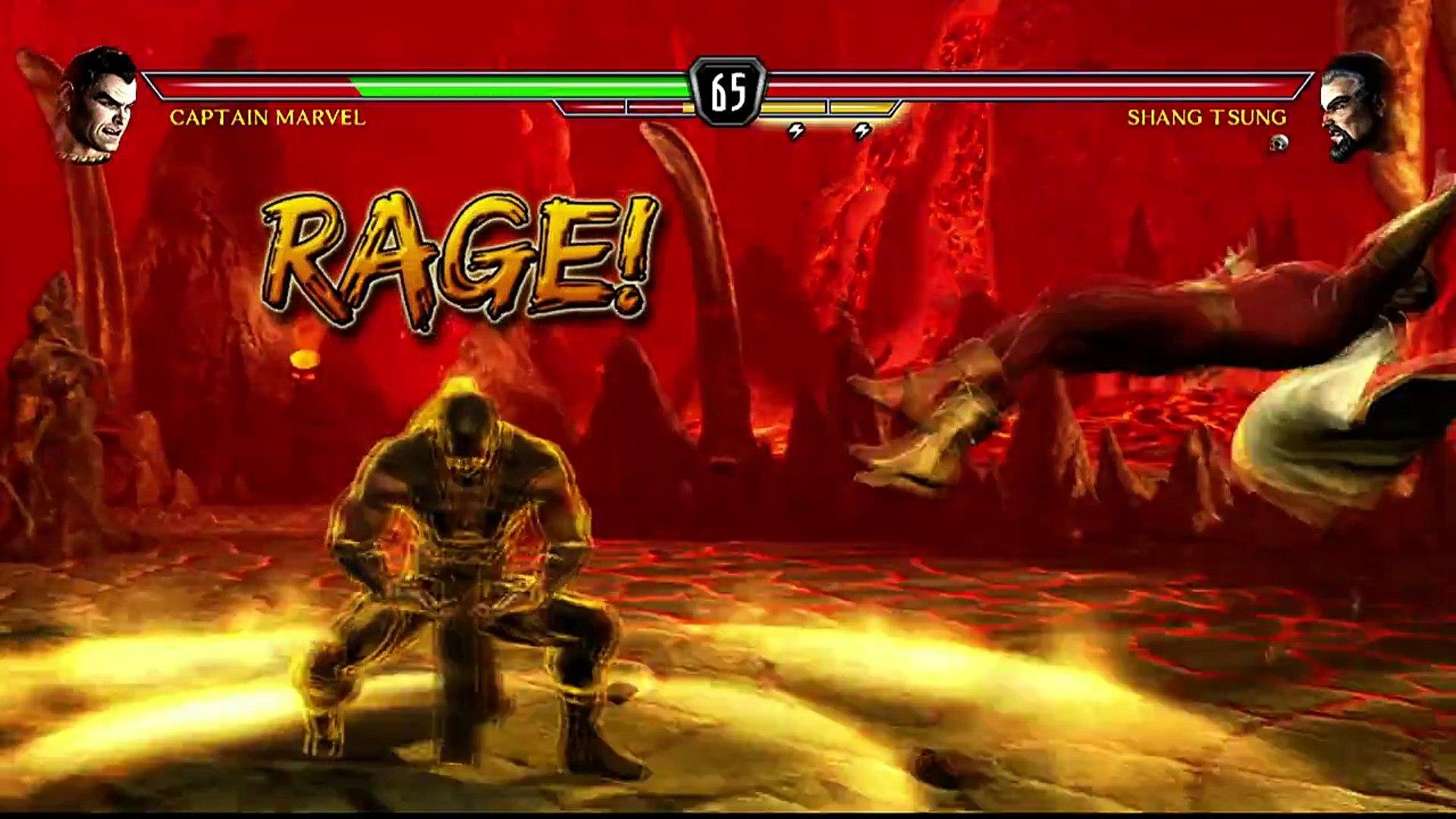 Mortal Kombat VS DC Universe [Xbox 360] - ✪ Captain Marvel Vs Shang Tsung ✪  | Full HD – Видео Dailymotion