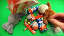 Kinder Surprise Egg Party. Opening 2 Stuffed Animal Kinder Surprise Boxes