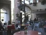 Funny videos - College student falls down spiral staircase