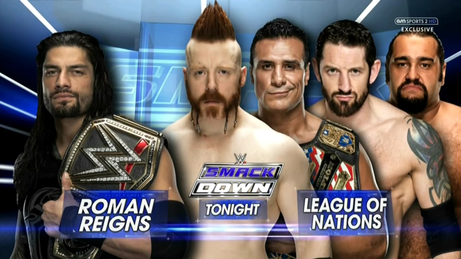 Roman Reigns Vs The League Of Nations 4 On 1 Handicap Match Smackdown Latino ᴴᴰ Video Dailymotion