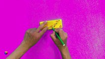Origami for kids. How to make an origami purse. Educational videos and tutorials for child