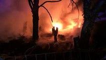 L'incendie, qui menaçait des maisons à Jumet, a eu lieu dans un stock illégal de pneus