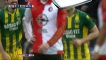 0-1 Kevin Jansen Goal Holland  Eredivisie - 31.01.2016, Feyenoord 0-1 ADO Den Haag
