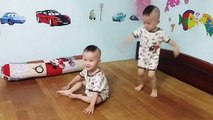 funny twins baby dancing - twins dance - twins boy dancing - baby twins dance