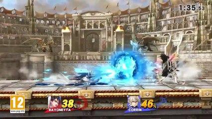 Super Smash Bros : Bayonetta vs. Corrin Gameplay