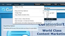 CurationSoft.com - Frequent - Settings and Options V2