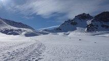 Col des Ourdéis avec des skis de randonnée