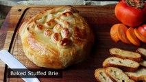 Cuit au four Farci au Brie Brie en Croûte farci aux Canneberges et Noix de grenoble