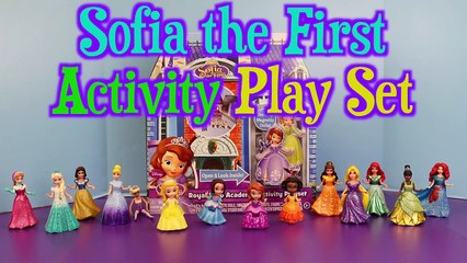 Sofia the First Royal Prep Academy Set with Magic Clip Dolls Frozen Elsa and Littler Mermaid Ariel