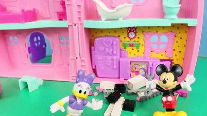 Mickey Mouse Mouska-Dozer Where Mickey Bulldozes Minnie Mouse House to Fix Her Sink