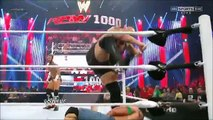 The Rock saves John Cena and gets attacked by CM Punk at 1000th Episode of RAW - 7_23_12 -
