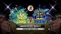 Highlights Match 17  St Lucia Zouks v Barbados Tridents