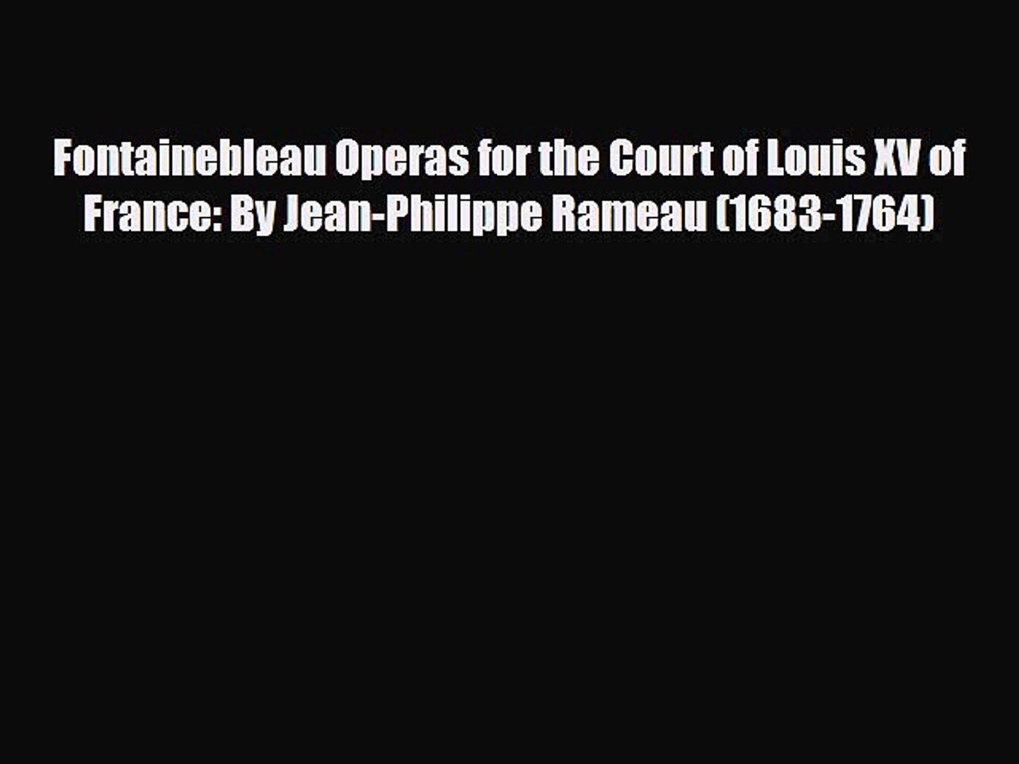 Chaise Louis Xv Cannée Merisier [pdf download] fontainebleau operas for the court of louis xv of france: jean-philippe rameau