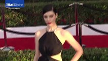 Jessica Paré stuns in striking cut-out gown at SAG Awards _ Daily Mail Online