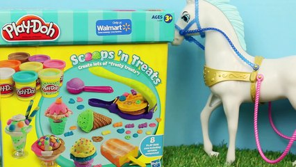 Play Doh Cinderella Popsicle with the Cinderella Doll Making a Glass Slipper and Carriage