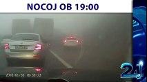 Carambolage terrible en slovénie à cause du brouillard - 70 véhicules accidentés