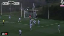 Enzo Zidane does his dad's trademark roulette to earn Real Madrid Castilla a decisive penalty