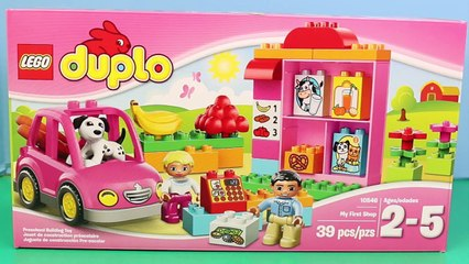 Duplo Lego My First Shop Reviewed by Mickey Mouse with Lego Food and a Duplo Lego Car