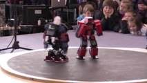 Watch humanoid robots do battle in Madrid