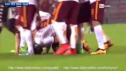 Mohamed Salah Goal Sassuolo 0 - 1 AS Roma Serie A 2-2-2016