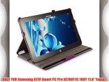 Coodio? Samsung ATIV Smart PC Pro XE700T1C 700T 11.6-Inch funda de cuero con soporte integrado